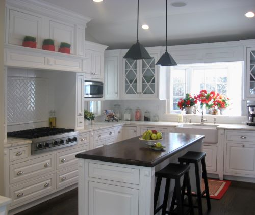 homeowners search photos for inspiration for their kitchen renovation