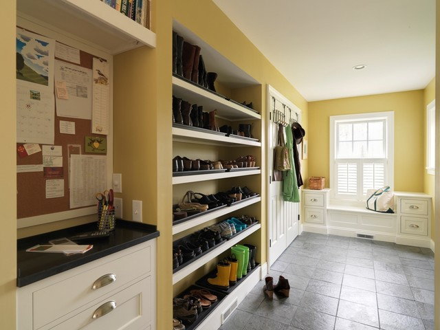 The versatility of custom cabinetry makes designing a mudroom for any homeowner an easy task.