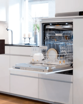 Raise dishwasher height to prevent bending and lifting