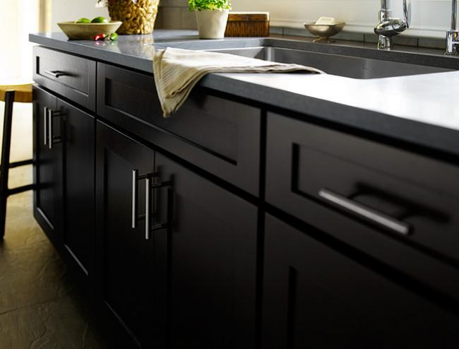 Black as a finish color is gaining popularity. And black brings the drama.
