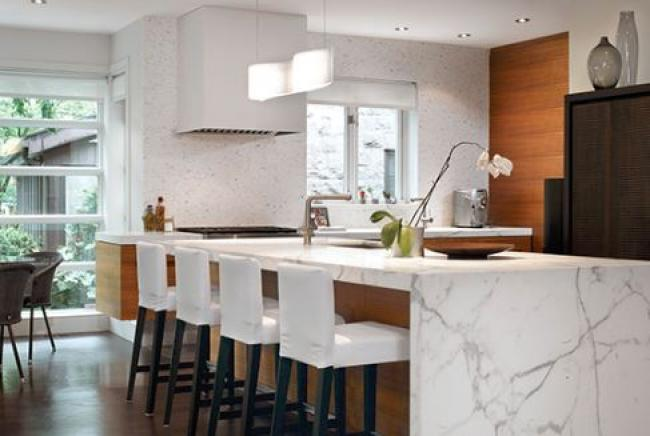 The minimalist style for kitchens is a definite trend mid-year 2018