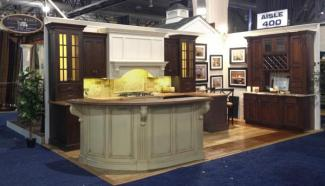 Custom cabinetry shown to great advantage at a home show.